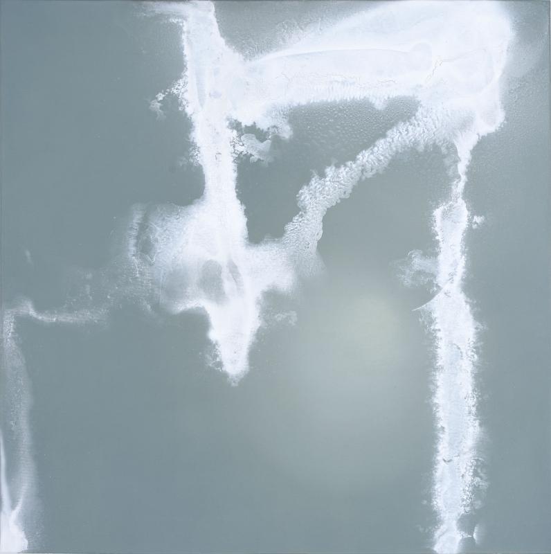 bez tytułu, 2018, technika własna, płótno, 100 x 100 cm