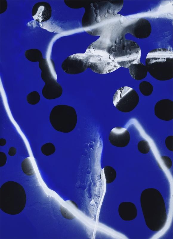 bez tytułu, 2018, technika własna, płótno, 180 x 130 cm