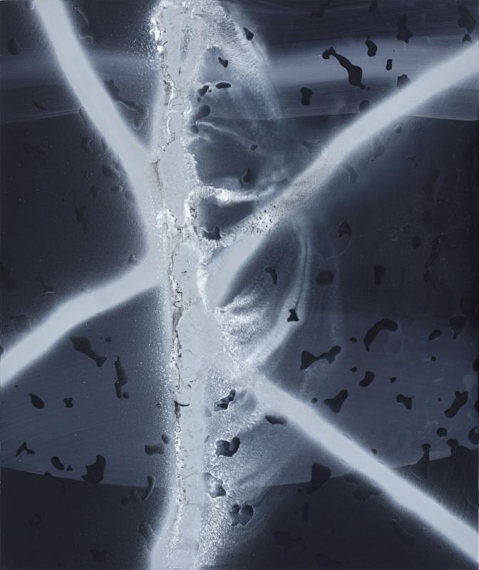 bez tytułu, 2018, technika własna, płótno, 92 x 77 cm